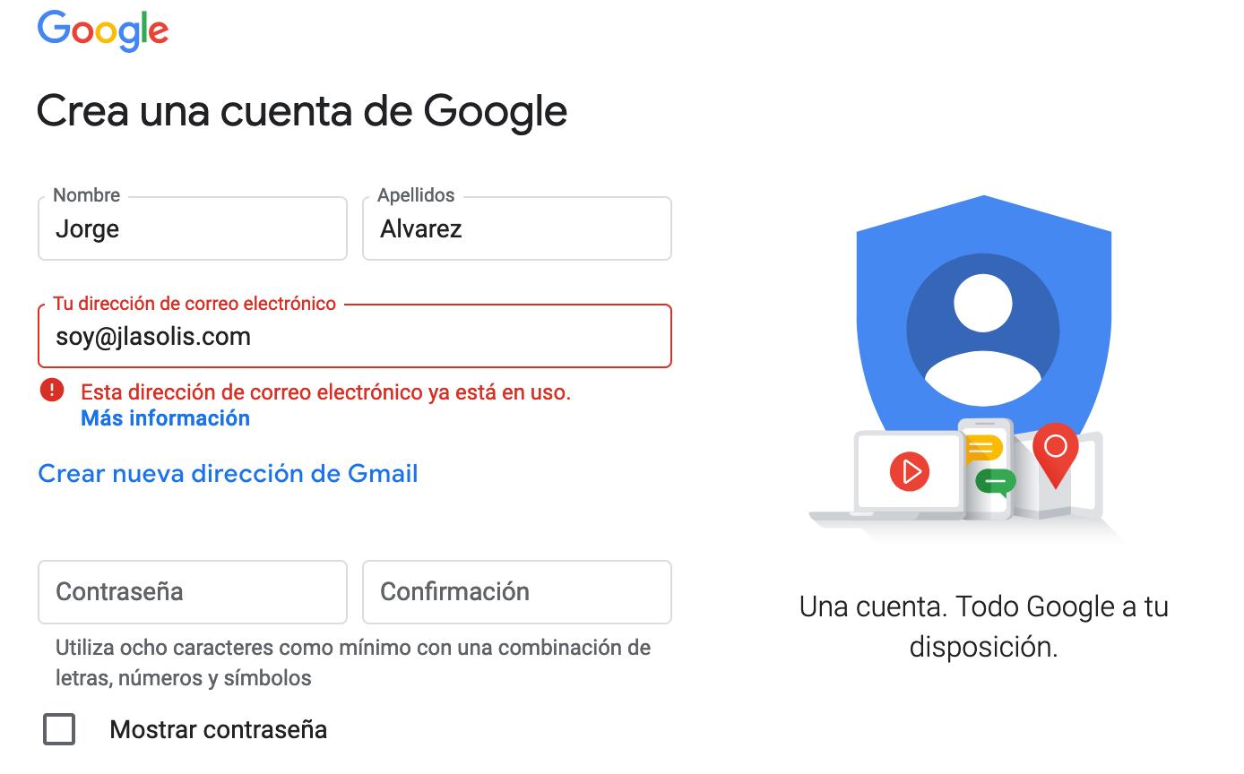 Gmail crear cuenta Como crear